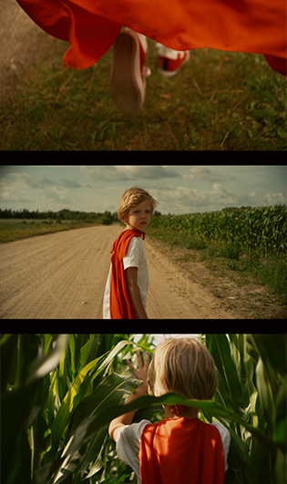 Superhero. Short movie.