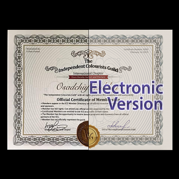 Certificate membership - Electronic Version
